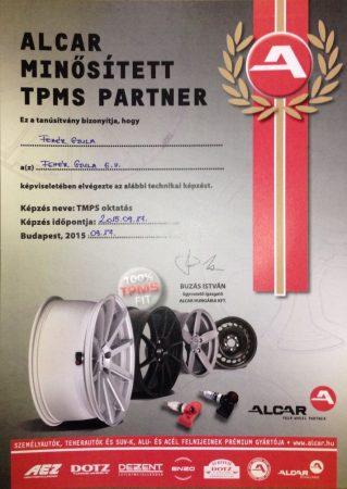 TPMS szelepek vagy autó ellenőrzése.